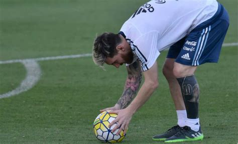 messi tattoo russin barcelona ace messi shows off new ink work on his magical