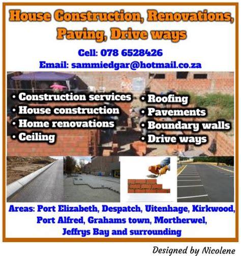 house construction renovations paving drive ways
