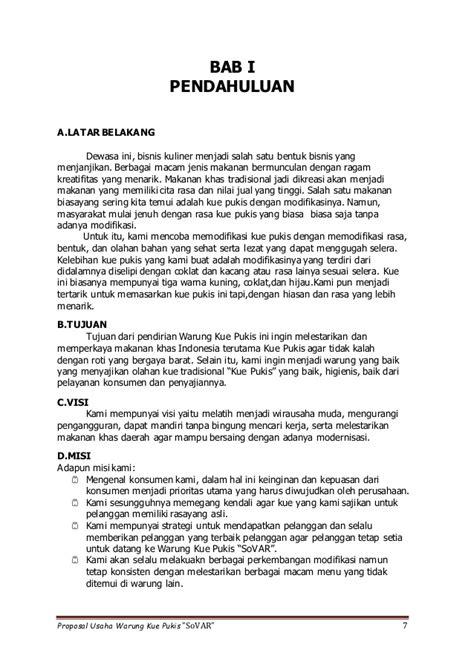 format bisnis plan kewirausahaan proposal cara memulai usaha makanan bisnis carapedia
