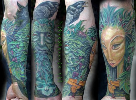 green man tattoo greenman by johnny berrios tattoonow
