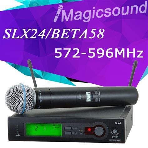 Mic Wireless Shure Slx 4 Beta 58 Single Mic Professional slx slx24 beta58 high quality single handheld wireless
