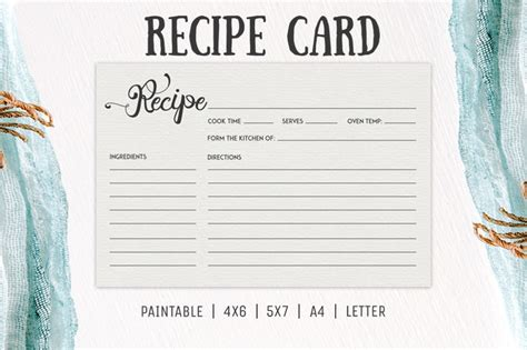 template for hallmark recipe cards free cooking recipe card template rc2 creativetacos