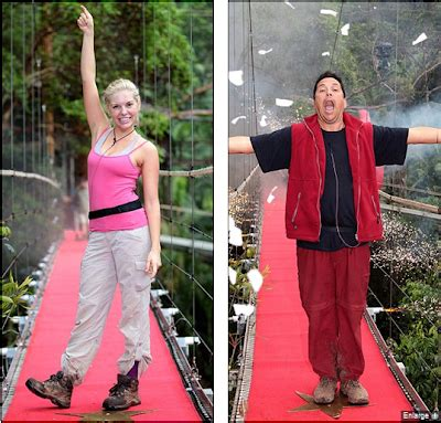 celebrity jungle eviction tonight i m a celebrity 2010 kayla collins and dom joly sent