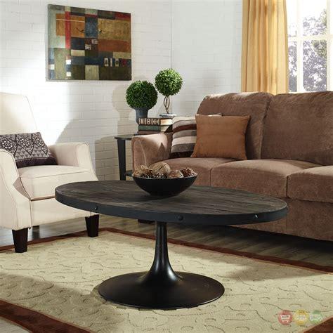 drive industrial modern wood top coffee table w