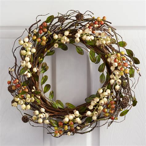 berry wreath ivory berry wreath world market