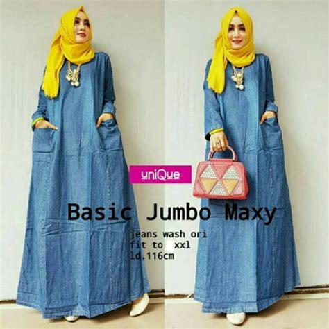 Jumbo Maxy Dress basic jumbo maxy gamis baju muslim wanita baju