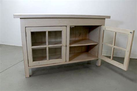 Wooden Cabinet With Glass Doors Reclaimed Wood Media Cabinet With Glass Doors Ecustomfinishes