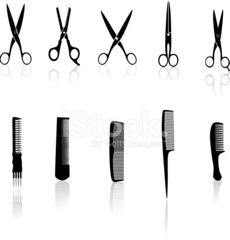 Hairstyle Tools Designs For Silhouette hair tools silhouette stock vector freeimages
