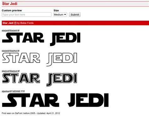 dafont star wars installing fonts in windows plus various movie fonts