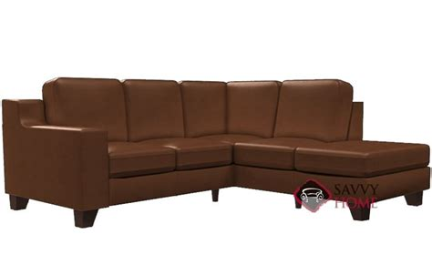 compact leather sectional sofa reed leather chaise sectional by palliser is fully