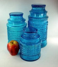 blue kitchen canister sets decorating clear teal glass canisters vintage kitchen canisters