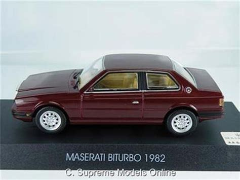 maserati maroon maserati biturbo car model 1 43rd scale maroon colour