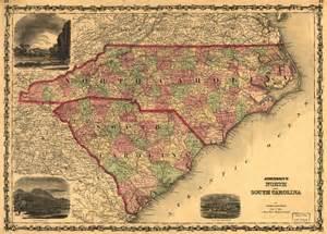 1861 map of carolina and south carolina