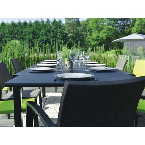 table extensible oxford anthracite tables de jardin