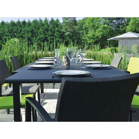 table extensible oxford anthracite tables de jardin