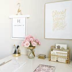 White And Gold Home Decor by 25 Best Ideas About Gold Desk Accessories On Pinterest