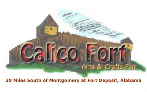 calico craft fair the calico fort arts and crafts fair fort deposit alabama