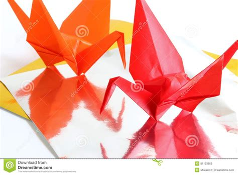 Ancient Japanese Origami - origami crane stock photo image 51133953