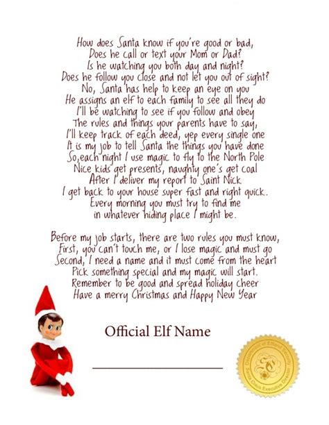 elf on the shelf letters letters and other great ideas elf on the shelf letter ideas letter of recommendation