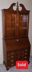 Cabinet Secretaries Antique Desk Mahogany Chippendale