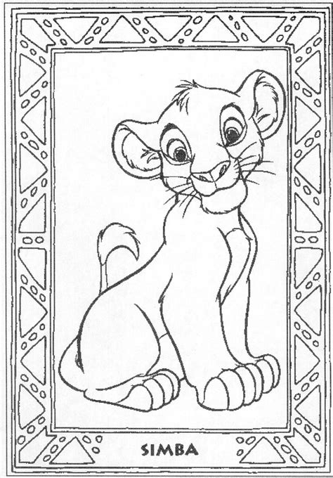 Lion King Coloring Pages Free Online | disney coloring pages lion king free large images