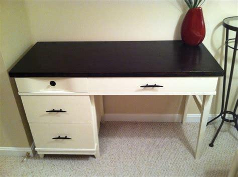 chalk paint espresso mid century desk after espresso minwax stain white