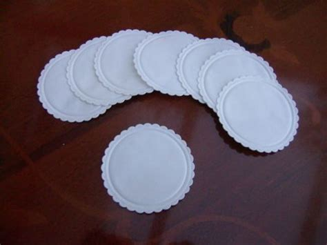 How To Make Paper Coasters - 200 x plain multi ply white paper coasters