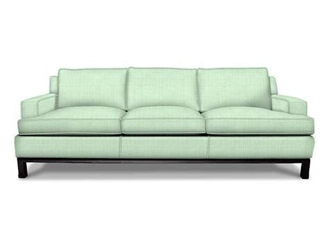 modern blue jonathan adler butterfield sofa and black legs