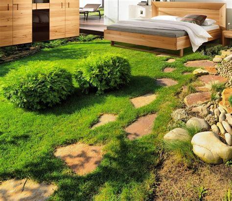 3d floor wallpapers Fresh green grass plant stereoscopic