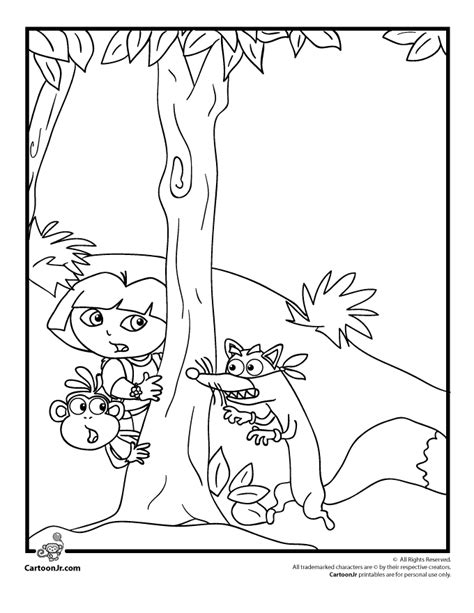 swiper the fox coloring pages az coloring pages
