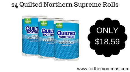 Quilted Northern 24 Rolls by 24 Quilted Northern Supreme Rolls Only 18 59 Shipped