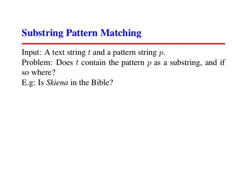 pattern matching video lecture skiena algorithm 2007 lecture06 sorting