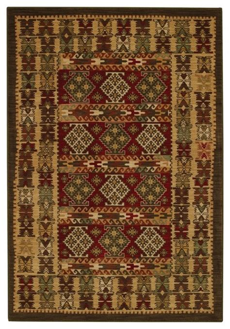 southwestern area rug southwestern lodge laud adobe 7 10 quot x11 rectangle multi color area rug rustic area rugs by