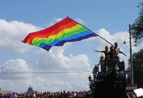 gay boat flags photo gays pride boats canal homosexuals amsterdam