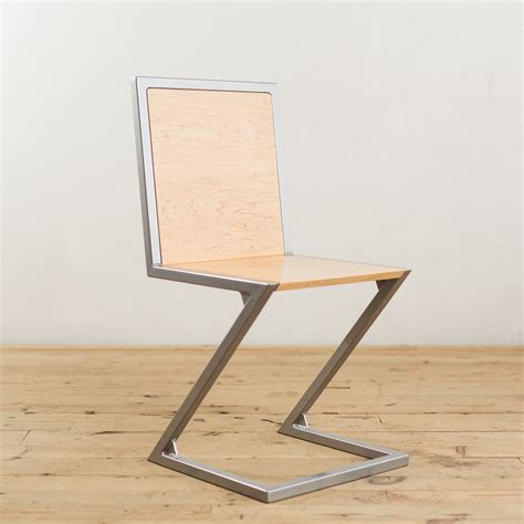 steel armchair maple and powder coated steel z chair factor fabrication
