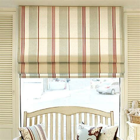 roman curtain patterns casual striped pattern poly cotton blend fabric roman curtain
