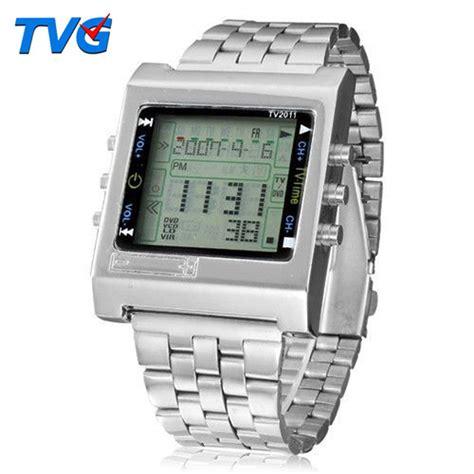 Jam Tangan Casio Remote Tv aliexpress buy tvg new rectangle remote digital sport alarm tv dvd remote