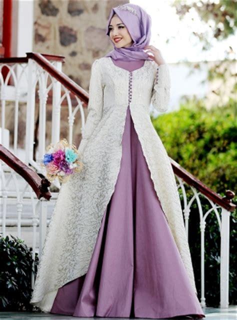 Gamis Pesta 2017 9 model gamis pesta 2017 elegan kombinasi brokat satin batik