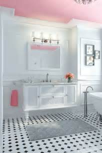 Black And White Tile Bathroom - think pink 5 girly bathroom ideas best friends for frosting