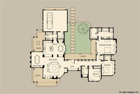single level house plans with courtyard hacienda home designs this wallpapers
