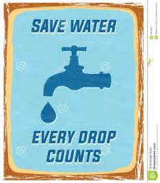 Every Drop Counts Essay by Save Water Stock Vector Image 49028871