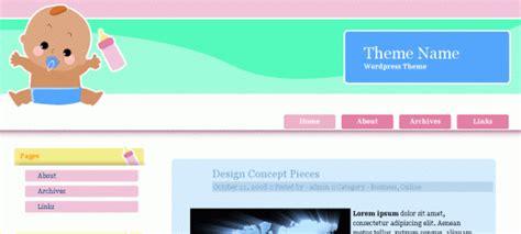 wordpress themes free baby 18 free baby wordpress themes designbeep