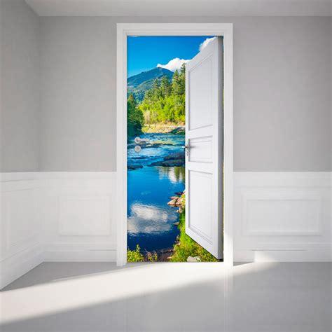porte ouverte rennes 1 sticker porte ouverte sur ruisseau for 234 t et montagne