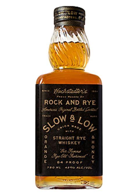 hochstadter s slow low rock rye straight rye whiskey