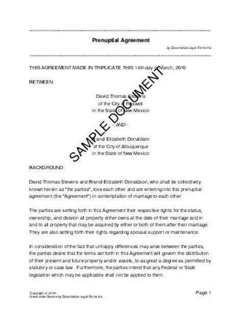 antenuptial contract template prenuptial agreement south africa templates