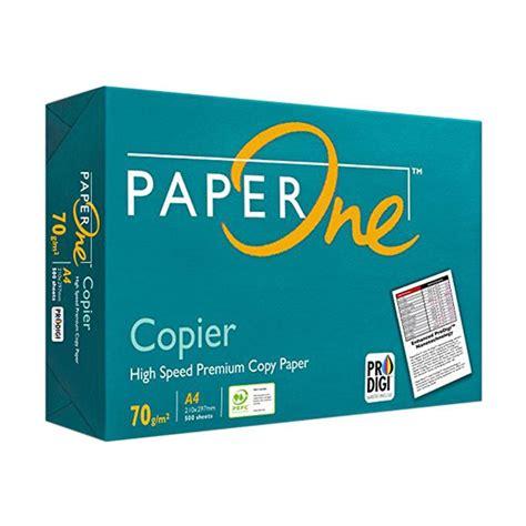 Kertas Hvs A4 Paper One 70 Gram Hvs A4 Paper 500 Lembar New jual paper one kertas hvs a4 70 g harga
