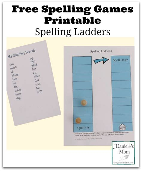 printable games to play with spelling words free spelling games printable spelling ladders