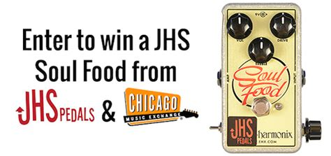 Guitar Pedal Giveaway - win a jhs modded ehx soul food fx pedal