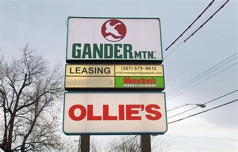 gander mountain flint subcontracted sign installation signs by crannie