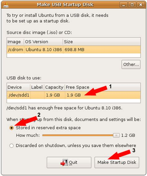 installing ubuntu server to usb install ubuntu 8 10 to a flash drive from the cd usb pen